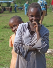 Two of the children who visited the free eye clinic and evangelistic center in Kilgoris, Kenya