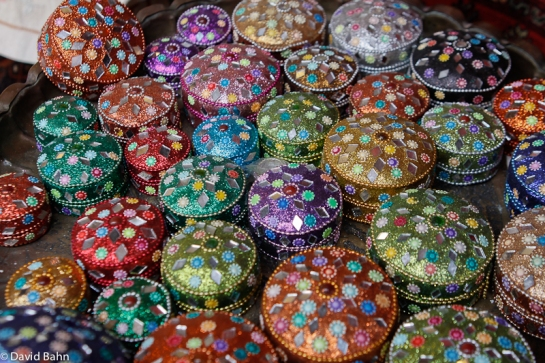 Gift items in the bazaar in the Old City Jerusalem