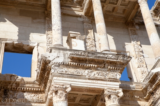The exterior of the library at Ephesus