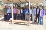 Leaders from the church in Kilgoris where we met are pictured under the shelter where they now worship.