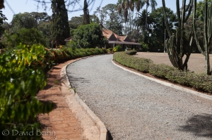 Entrance to the Karen Blixen (author of the book, Out of Africa) Museum in Karen, Kenya (on the outskirts of Nairobi)