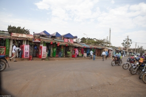 Many micro-businesses are located on the roads and streets.