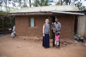 Diane with Peter and his two children (one of whom is named Bekah, the name of one of our grandchildren).