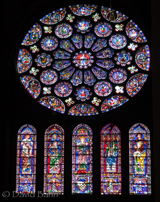 Chartres Cathedral Stained Glass Window