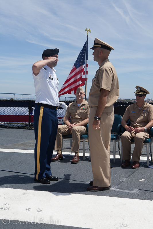 AEC Bahn, Timothy, USNR, becomes Ensign Bahn, Timothy, USN, aboard USS Midway Museum - 1 June, 2015