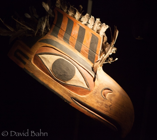 A mask from a First Nations tribe in Victoria, BC