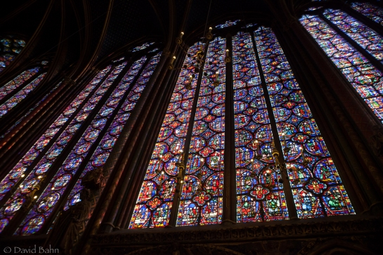 The windows of Saint Chapelle in Paris: Beautiful!