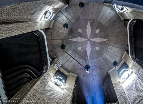 A view of the floor of the French Cathedral tower from about 1/3 of the way up